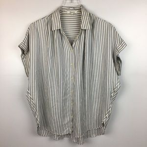 Madewell Striped Button Front Blouse